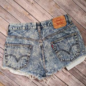 LEVIS Denim Acid Wash Shorts size 30 waist